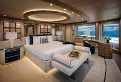 The Interior Design Of The 243-Foot-Long Superyacht Cloud 9 Steals The Show In Monaco The private access to the owner's deck consisting of approximately 4,300 square feet of space – leads directly into the media room. A particular design detail that is found here and across the owner's level is the custom-made mixed white wool and ...