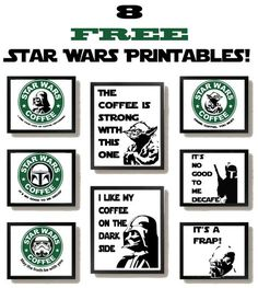 Free Star Wars Printables with a Coffee Theme! Add some of the Force to your kitchen with these Star Wars Printables!