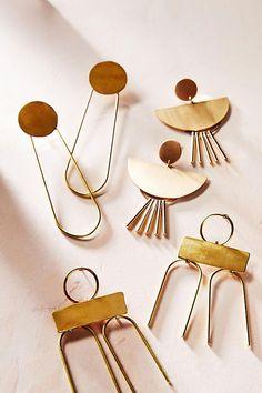 Fringed Spoon Drop Earrings /
