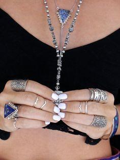 silver + lapis // LILI CLASPE