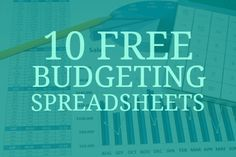 10 free budgeting spreadsheets. I plan to try the one mentioning envelope system: http://christianpf.com/10-free-household-budget-spreadsheets/