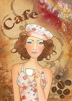 """""""Coffee Girl"""" by Scot Howden 