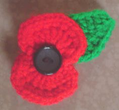 Make a crocheted poppy for the Poppy Appeal this Centennial...please remember to donate to the Royal Legion's Poppy Appeal! ::Jo::