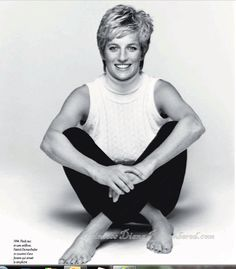 Never before seen published photo of Princess Diana - from latest Paris Match magazine.