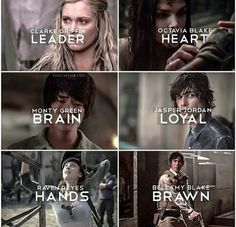 bellamy, clarke, jasper, raven, the hundred, the100, octavia