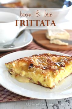 Quick, easy and delicious! Bacon & Brie Frittata makes a great holiday brunch recipe or a nice easy dinner.