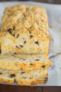 Bacon and Cheddar Beer Bread | browneyedbaker.com