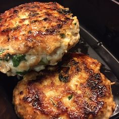 Spicy Chicken Patties (ground chicken, onion, cilantro, serrano pepper, garlic, chili powder, crushed red pepper)
