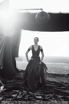 ☆ Amber Valletta | Photography by Peter Lindbergh | For Vogue Magazine Italy | February 2013 ☆ #Amber_Valletta #Peter_Lindbergh #Vogue #2013