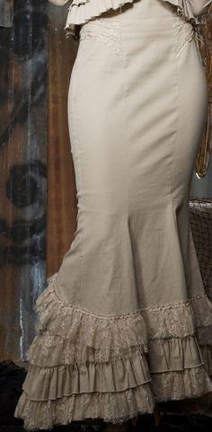 Victorian style ruffled skirt