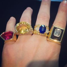 These spectacular rings from Beladora are well endowed with both karats and carats making them dazzling future heirlooms.