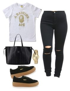 """""""Untitled #66"""" by tay-liangg on Polyvore featuring Michael Kors, Puma and MCM"""