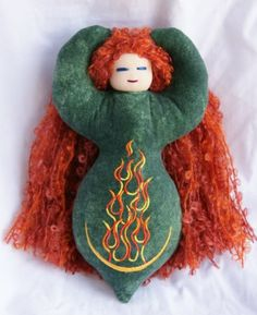 Dancing Goddess Dolls - Brigid, the Celtic goddess who would eventually become St. Brigit. We celebrate hearth and home at Imbolc. We celebrate the returning light.