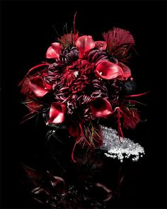 Burgundy Goth Bridal Bouquet