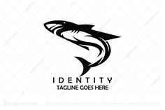 Modern shark logo for sale. Logo is created with black shark in a stylized motion. Logo works in every color. Logo for sale: Black Shark Logo