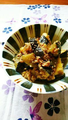 レンジで簡単☆米なすの味噌そぼろ煮。 by ゆぅゅぅ [クックパッド ...