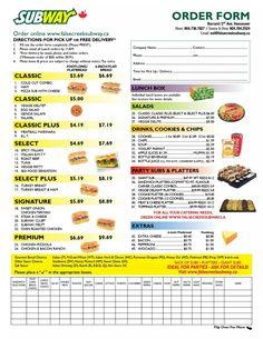 Order resume online subway