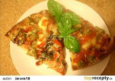 Italská pizza recept - TopRecepty.cz Mozzarella, Baked Potato, Quiche, Pizza, Potatoes, Baking, Ethnic Recipes, Food, Potato