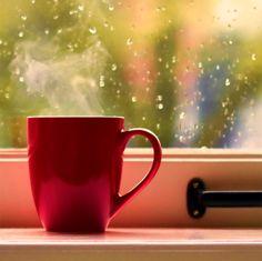 This Southern Girl's Heart: Rain and Coffee. Rain And Coffee, I Love Coffee, Hot Coffee, Coffee Cups, Drink Coffee, Coffee Art, Rain Wallpapers, Autumn Coffee, Coffee Photography