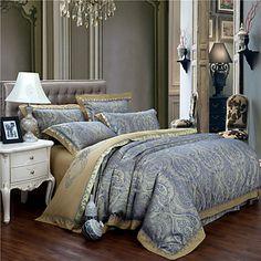 roupa de cama de luxo de moda definido lençóis de seda duvet tributo nobre e elegante têxteis-lar queen size rei de 4822889 2016 por R$297,14