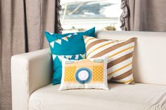 Print digital art on iron transfer paper to create fun custom pillows for your home!