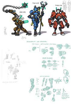 Bionicle lego design concepts