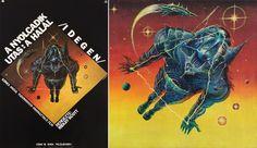Hungarian movie poster for Alien
