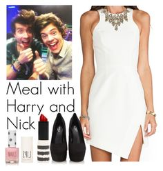 Meal with Harry and Nick by emily-tabinor on Polyvore featuring mode, Nicholas, Carvela Kurt Geiger, Erickson Beamon and Topshop