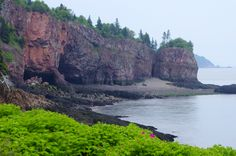 Cave you hike to at the Cape DOr Lighthouse in Nova Scotia
