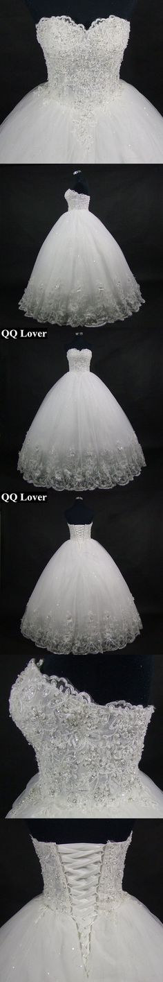 [Scroll down--6 photos in all.]  QQ Lover 2017 High Quality Elegant Luxury Lace Wedding Dress Vintage Bandage Plus Size Ball Gowns Vestido De Noiva #vintageweddingdresses