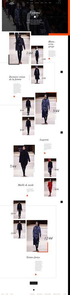 Web   Hermès Concept on Web Design Served