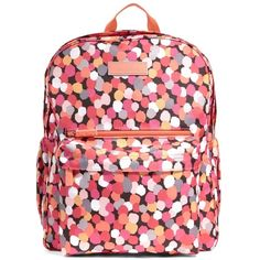 Vera Bradley Vera Bradley Pixie Confetti Lighten Up Grande Backpack... ($70) ❤ liked on Polyvore featuring bags, backpacks, handbags, multi, rucksack bag, backpack bags, knapsack bag, handle bag and red bags