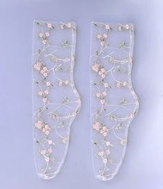 Women s Candy Colors Embroidery Flowers Socks.Lolita Ladies Girl s Transparent Lace Mesh Floral Socks Hosiery Gauze Sox Mesh Socks, Sheer Socks, Lace Socks, Concert Wear, Slouch Socks, Floral Socks, Rolled Up Jeans, Mode Blog, Fashion Socks