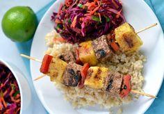 10. Jerk Tofu and Pineapple Skewers