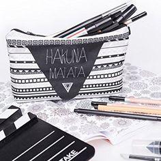 Hakuna Matata Aztec Kosmetiktasche Federmappe Mäppchen Tüte Beutel Zipper Kulturbeutel Make Up Bag Reißverschluss Full Print All Over Kosmetiktüte: Amazon.de: Koffer, Rucksäcke & Taschen