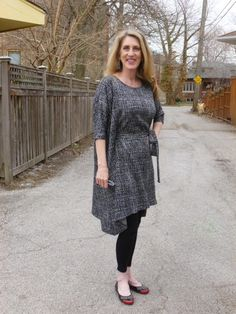 Rhonda's Creative Life: Thrifty Thursday top pattern turned into a dress