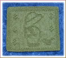 Garden boy knit dishcloth - and links to many more knit patterns here - http://www.knitsbyrachel.com/page12.html