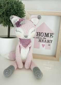 Sweet girly fox amigurumi