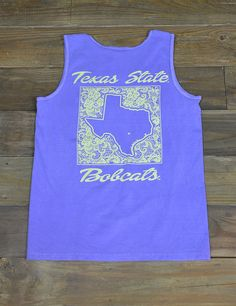 Rock This New Texas State University Comfort Color T Shirt For Every