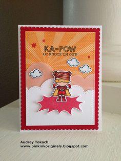 Superheroes by Mama Elephant for Simon Says Stamp! :) http://pinkinkoriginals.blogspot.com/2014/09/ka-pow-mama-elephant.html?m=1