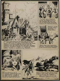 "Original Comic Art:Comic Strip Art, Roy G. Krenkel - ""Gwynwyn"" Sunday Comic Strip, Try-Out PageOriginal Art, dated 3-27-47 (1947)...."