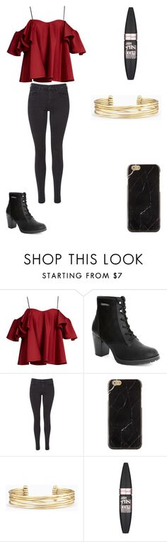 """""""Untitled #26"""" by crazy-lovs ❤ liked on Polyvore featuring Anna October, Maison Scotch, Stella & Dot and Maybelline"""