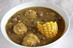 Sopa de Platano (Plantain Soup) --Plantain soup or stew very hardy and delicious