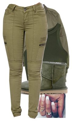 """""""2/12/17"""" by monet-princessa ❤ liked on Polyvore featuring H&M, Topshop and UGG Australia"""