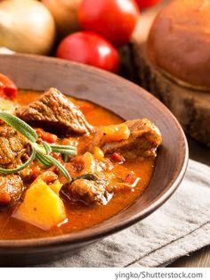 Kirgisischer Fleischeintopf mit Kartoffeln Schorpo kirgiskij sup - шорпоo киргиский суп - Russische Rezepte