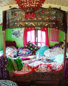 "Boho --- If we get a camper, I totally want to revamp the ""boring"" interior into some crazy gypsy paradise. Still deciding how much is too much! ;)"