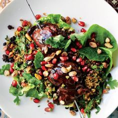 Sweet and tangy, this Pomegranate Molasses Vinaigrette will step up your salad game.