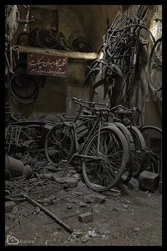 bikes | Abandoned bicycle workshop in old bazaar in Yazd, Ir… | Flickr