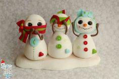 Cute snowman kid toppers