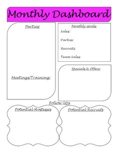 Direct Sales Monthly Planner Printable PDF by DivaPrintables